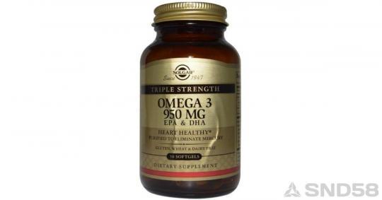 Solgar Omega 3 Triple Strenght (Жирные кислоты)