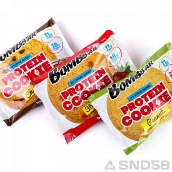 Bombbar Печенье протеиновое неглазированное