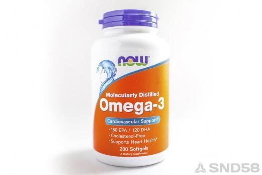 NOW Omega 3 (Жирные кислоты)
