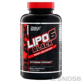 Nutrex Lipo-6 Black (деф капс) (Жиросжигатель)