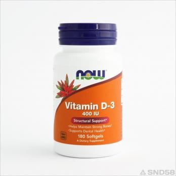NOW Vitamin D-3 400 IU (Витамин Д3)