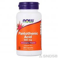 NOW B-5 Pantothenic Acid (Пантотеновая к-та)