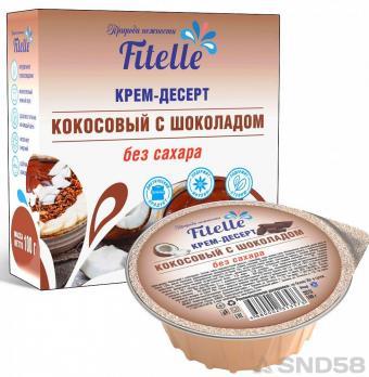 FitParad Крем-десерт кокосовый с шоколадом