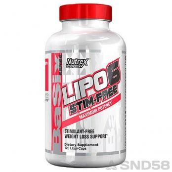 Nutrex Lipo-6 Stim Free (Жиросжигатель)