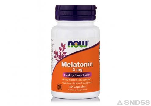 NOW Melatonin 3mg (Мелатонин) (Спец преп.)